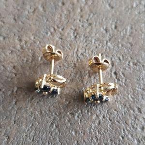 14k Sapphire earrings NWOT